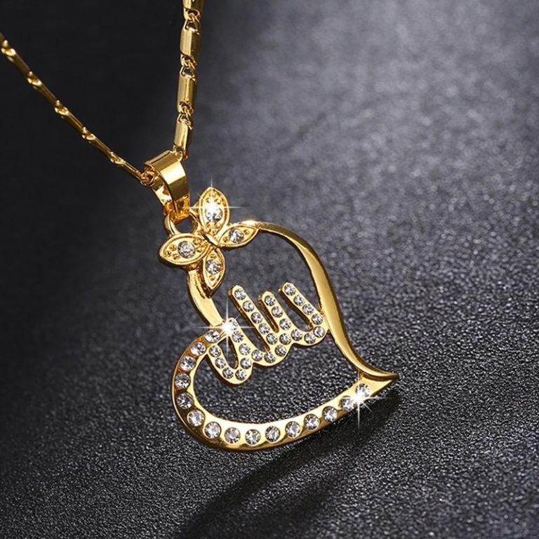 SONYA-Arabische-Vrouwen-Goud-kleur-Moslim-Islamitische-God-Allah-Charm-Hanger-Ketting-Sieraden-Ramadan-Gift-Koperen